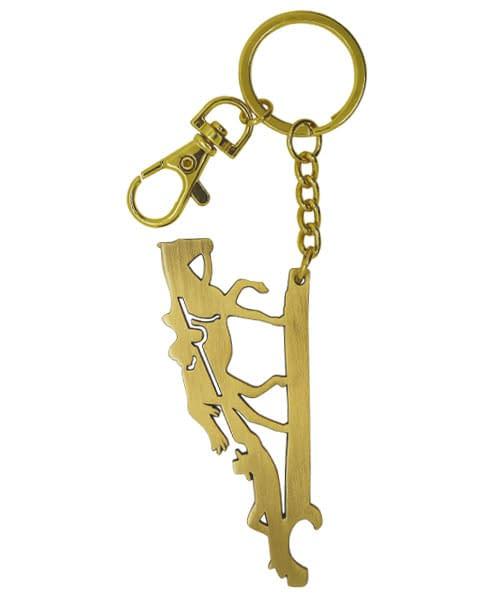 Schlüsselanhänger aus Metall Terrence Hill, goldfarben plattiert matt