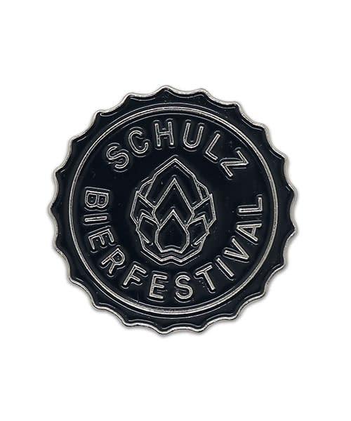 Pin, geprägt in Weichemaille Schulz Bierfestival Vorderseite