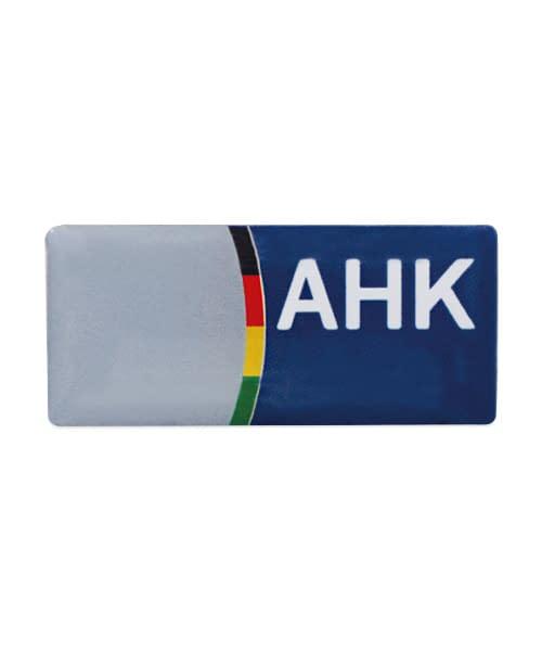 Pins Anstecker Offsetdruck AHK Vorderseite
