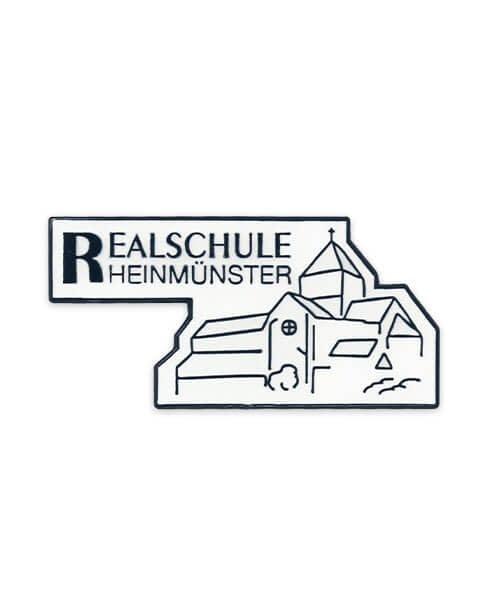 Pin geprägt in Hartemaille Realschule Rheinmünster Vorderseite