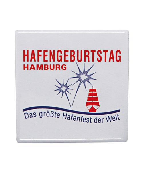 Magnetfolie Hafengeburtstag Hamburg bedruckt im Offsetdruck
