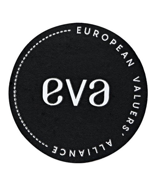 Filz Untersetzer rund, eva european valuers alliance Vorderseite